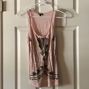 Express pink sequined tank